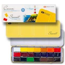 «Сонет» 21 колір, металевий пенал