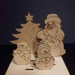 """Набір на підставці """"Дід Мороз і сніговички"""""""