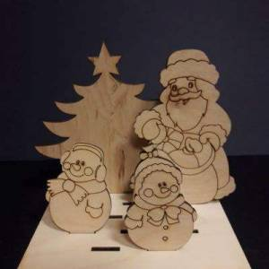 """Набор на подставке """"Дед Мороз и снеговички"""""""