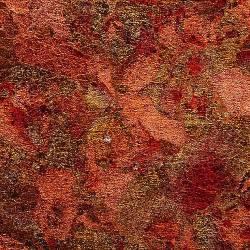 Поталь разноцветная красная в хлопьях в упаковке 7,5х12х4 см