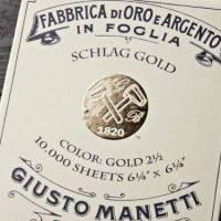 Поталь золотая и медная Giusto Manetti