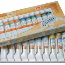 Набір олійних фарбк  Ладога  10 кольорів, 46 мл