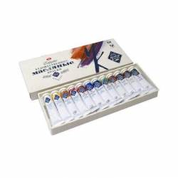 Набор масляных красок МК 12 цветов по 18 мл