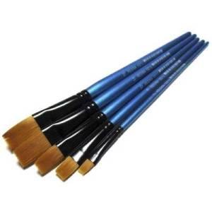 Кисти Shine Blue синтетические плоские Regina #10212