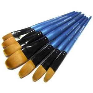 Кисти Shine Blue синтетические овальные Regina #10214